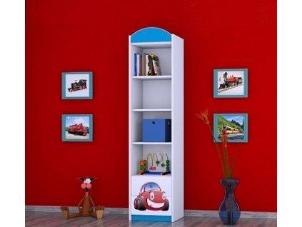 dětský regál s obrázkem rw01 červené auto (3)