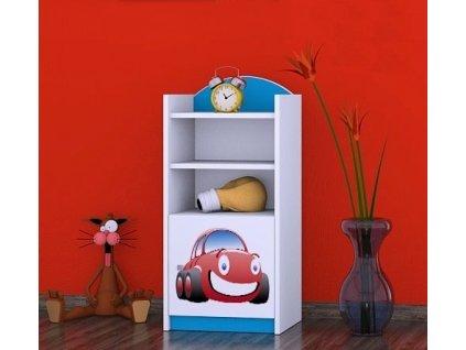 dětský regál komoda rn02 s obrázkem červené auto (8)