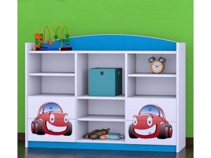 rn15 dětský regál komoda s obrázkem červené auto (5)