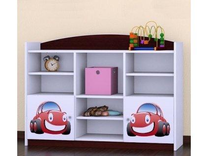 rn16 dětský regál komoda s obrázkem červené auto (6)