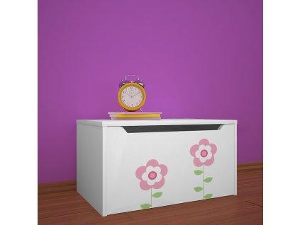 knz01 dm08 box na hračky s obrázkem beruška květinky (6)