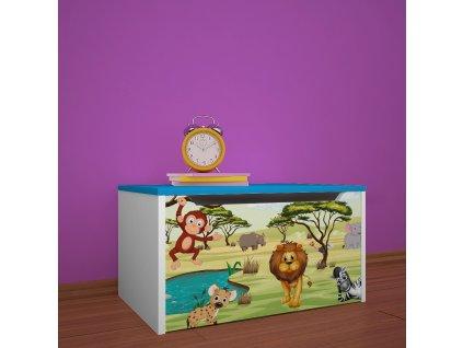 knz01 dm33 box na hračky s obrázkem afrika (3)