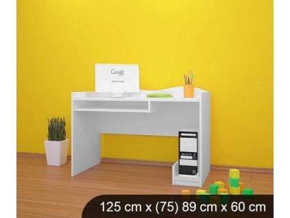 b07 dětský psací stůl bílý
