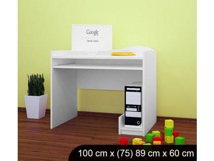 b11 dětský psací stůl bez obrázku bílý