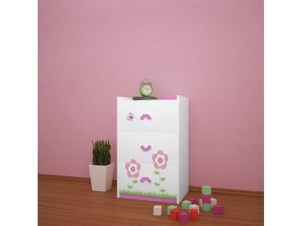 k03 dětská komoda 01 s obrázkem beruška květinka (6)