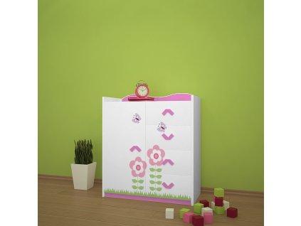 k08 dětská komoda 08 s obrázkem beruška květina (5)