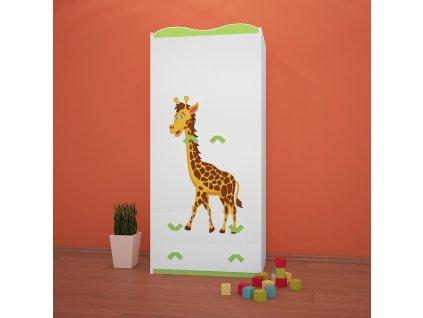 sz06 dětská šatní skříň s obrázkem afrika 33 žirafa (7)