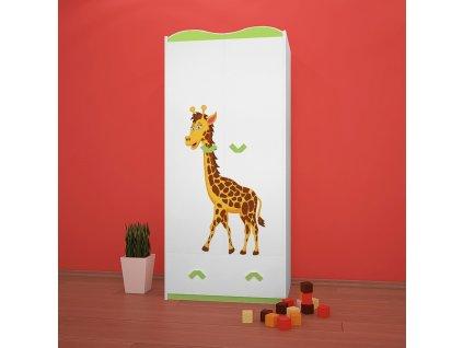 sz08 dětská šatní skříň s obrázkem afrika 33 (7)