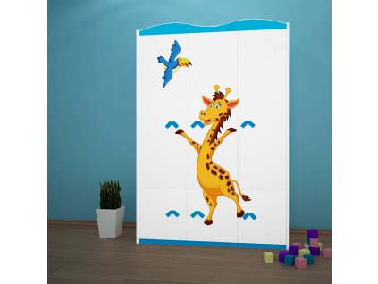 sz10 dětská šatní skříň s obrázkem afrika žirafa 33 (3)