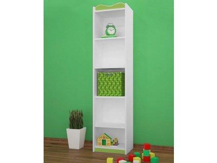 rw05 dětský regál vysoký zelený