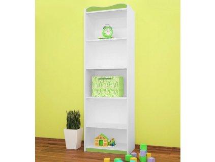 rw09 vysoký dětský regál zelený
