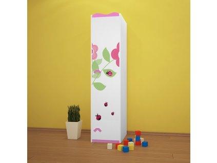 sz03 dětská šatní skříň s obrázkem beruška 08 (2)