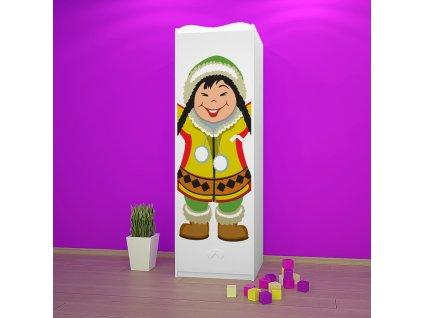 sz05 dětská šatní skříň s obrázkem antarktida 31 (2)