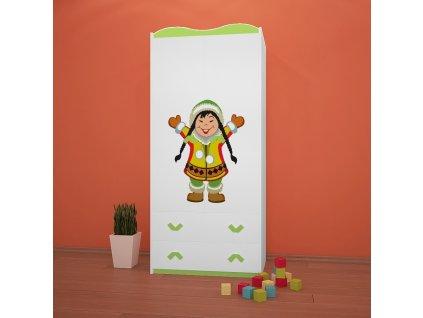 sz06 dětská šatní skříň s obrázkem antarktida 31 (7)