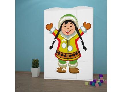 sz10 dětská šatní skříň s obrázkem antarktida 31 (2)