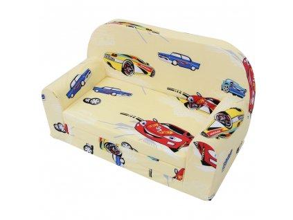 molitanová dětská sedačka formule auto