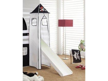 Věž k vyvýšené posteli se skluzavkou