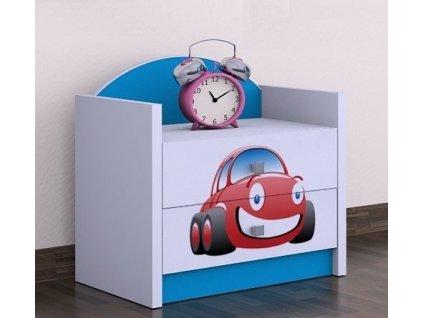 noční stolek szn01 auto modrý