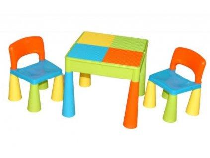 Tega Dětský set Mamut 2 židle a stůl BAREVNÝ