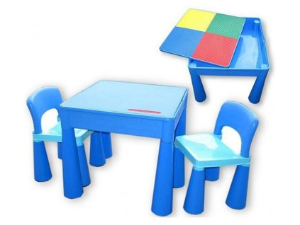 Tega Dětský set Mamut 2 židle a stůl MODRÝ