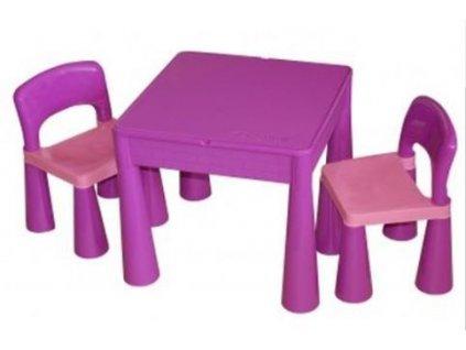 Tega Dětský set Mamut 2 židle a stůl FIALOVÝ