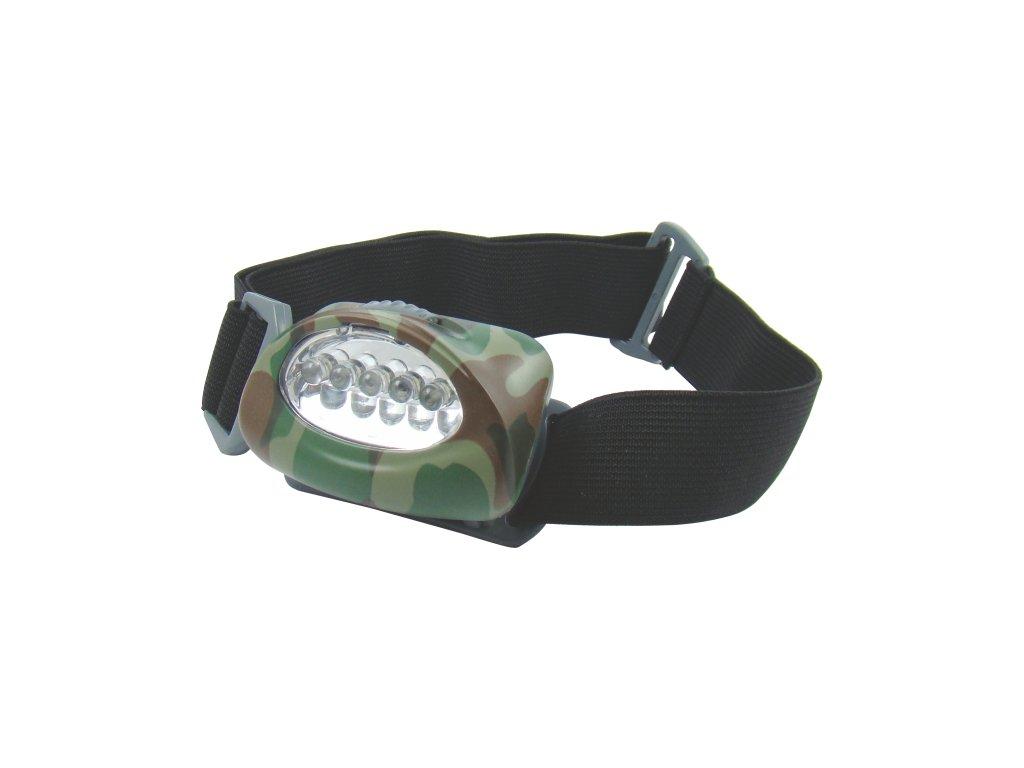Mistrall čelovka 5 LED diod, barva černá