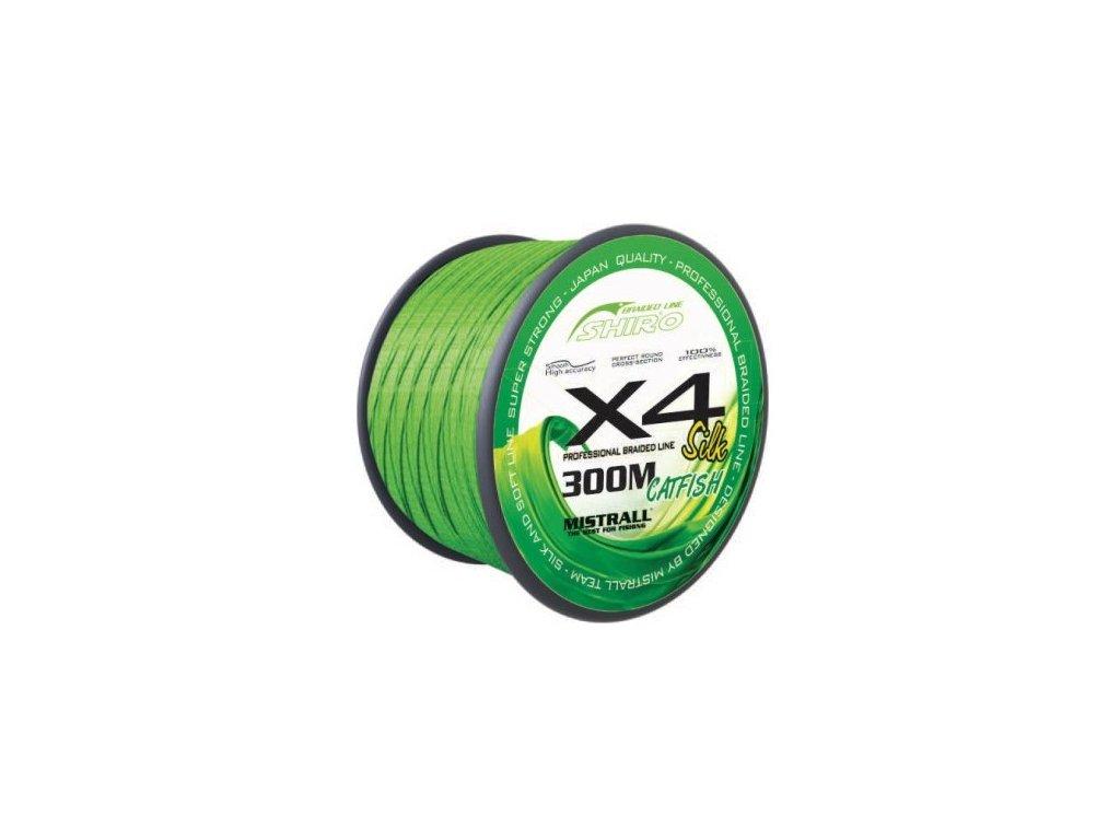 Mistrall pletená šňůra Green catfish 300m