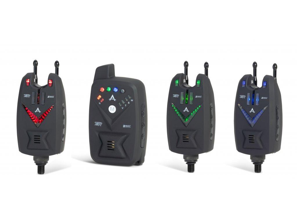 Anaconda sada 3 hlášičů s příposlechem TSR 2 WAY (červená, zelená, modrá)