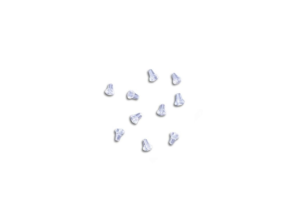 hook beads oval clear