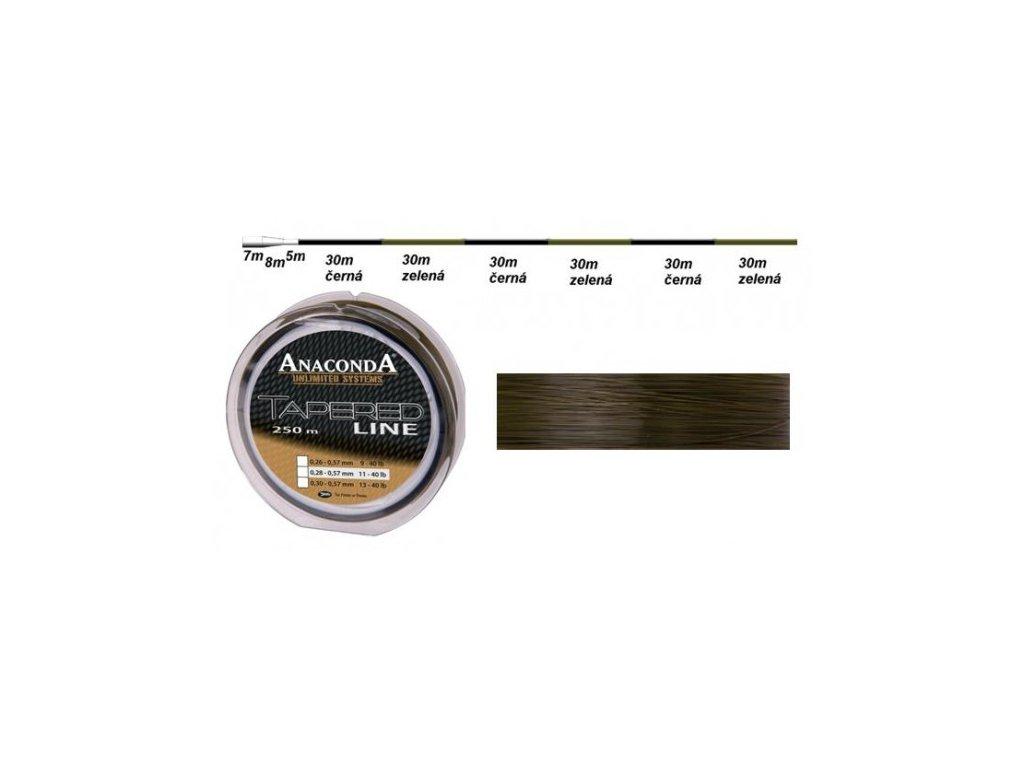 Anaconda vlasec Tapered Line průměr: 0,30 mm
