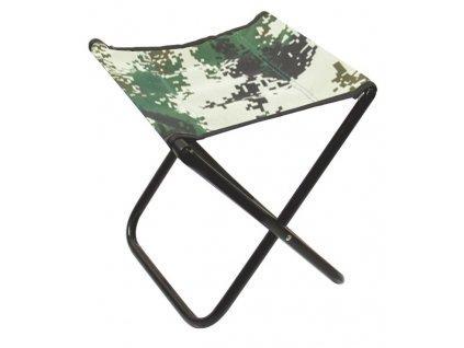Mistrall židlička bez opěradla M, maskáč