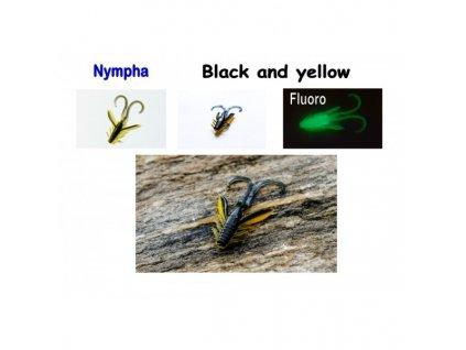 Nympha, 40 mm, 0,9 g Varianta: Black and yellow