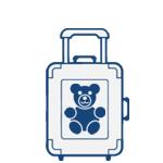 Detské cestovné kufre