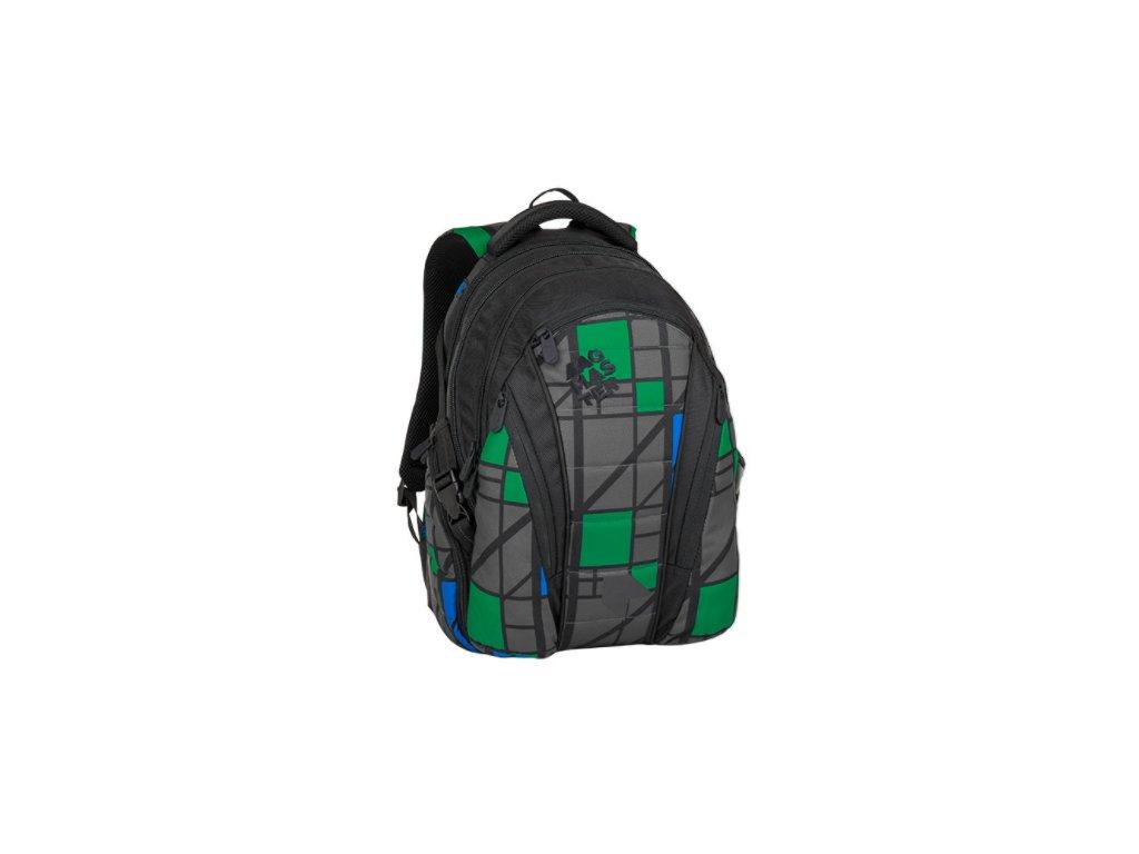 Bagmaster BAG 8 H BLACK/GRAY/GREEN  + LED Čelovka 3W