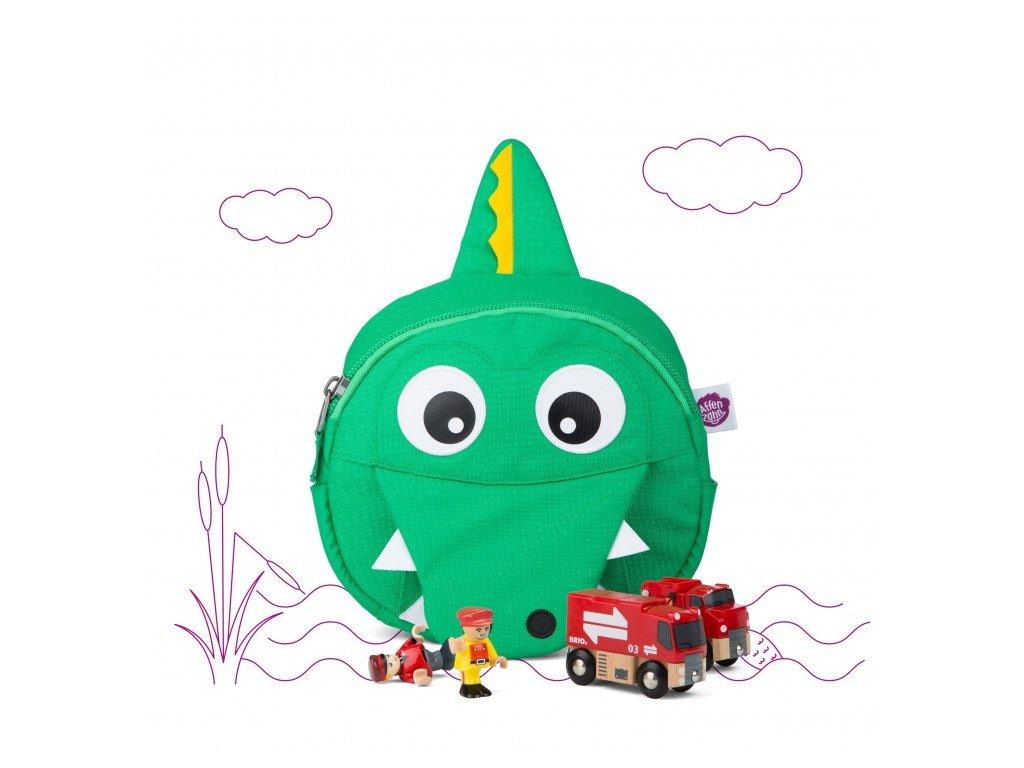 Batůžek pro nejmenší Affenzahn Kai Crocodile - green