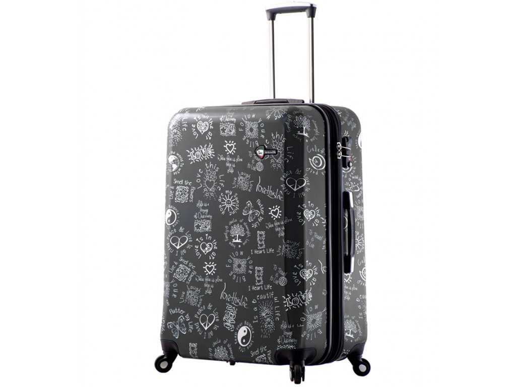 cestovný kufor MIA TORO M1089/3-L - čierna  + LED Čelovka 3W