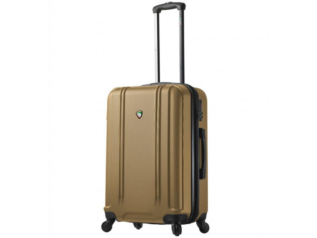 cestovný kufor MIA TORO M1210/3-M - zlatá  + LED svítilna