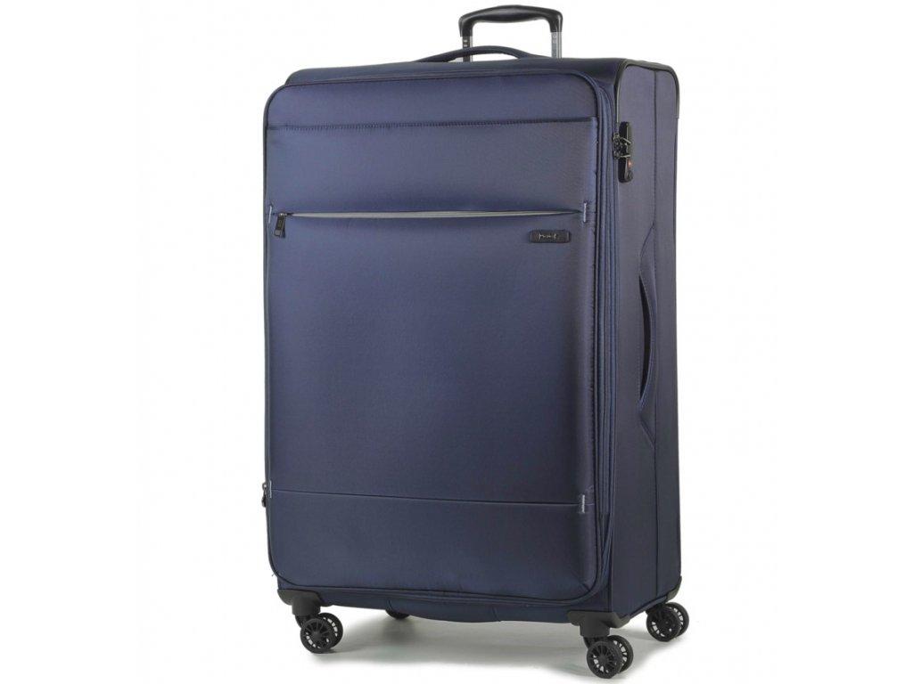 cestovný kufor ROCK TR-0161/3-L - tmavo modrá  + LED svítilna + zľava 10% s kódom AKCE10