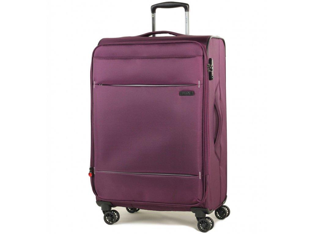 cestovný kufor ROCK TR-0161/3-M - fialová  + LED Čelovka 3W