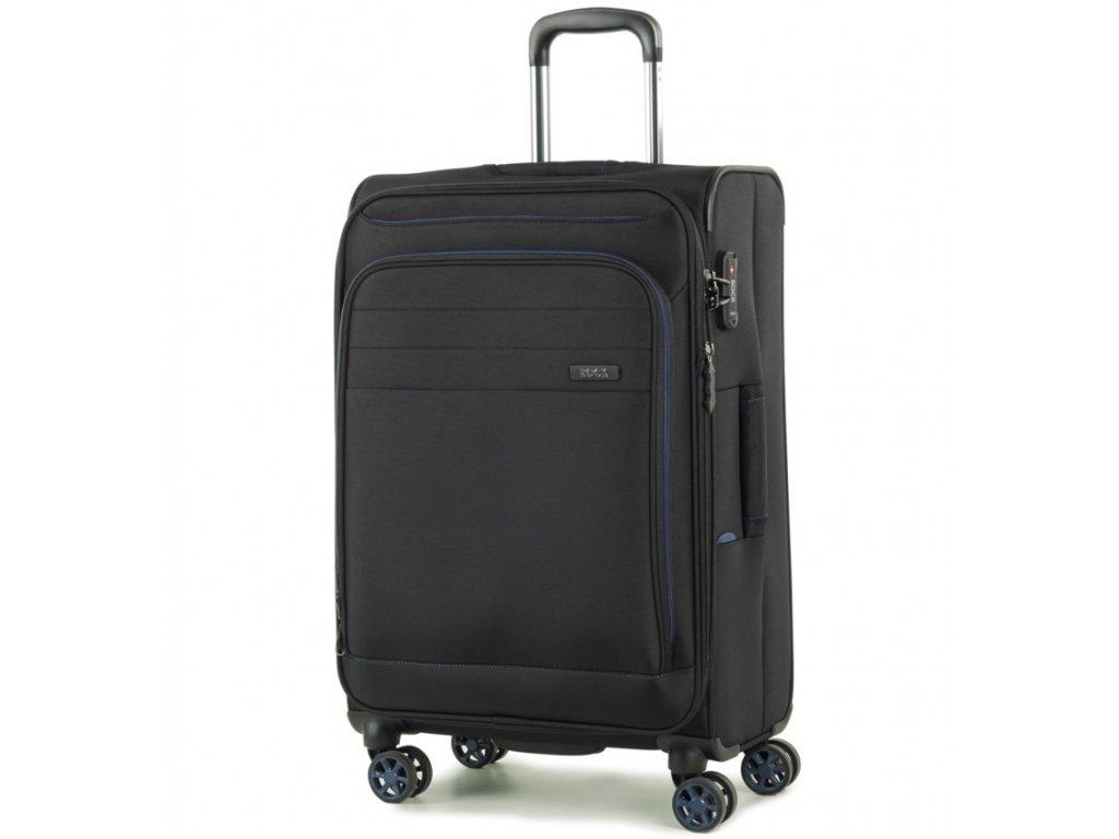 cestovný kufor ROCK TR-0162/3-M - čierna  + LED svítilna