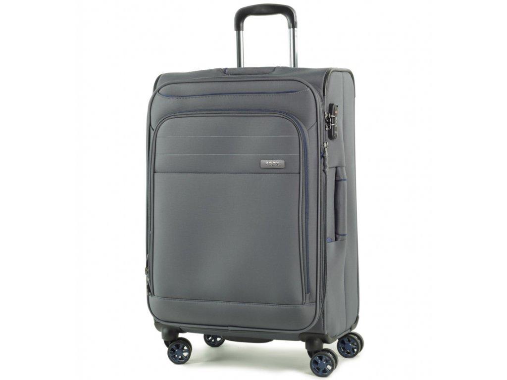 cestovný kufor ROCK TR-0162/3-M - šedá  + LED Čelovka 3W