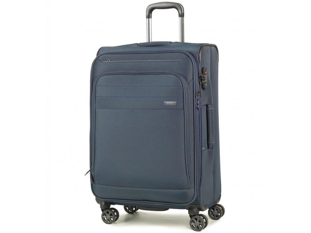 cestovný kufor ROCK TR-0162/3-M - tmavo modrá  + LED svítilna