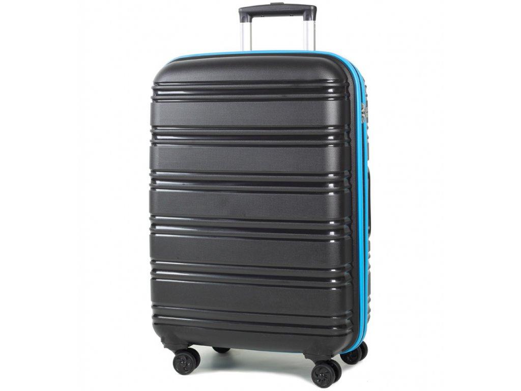 cestovný kufor ROCK TR-0164/3-M PP - čierna/modrá  + LED Čelovka 3W