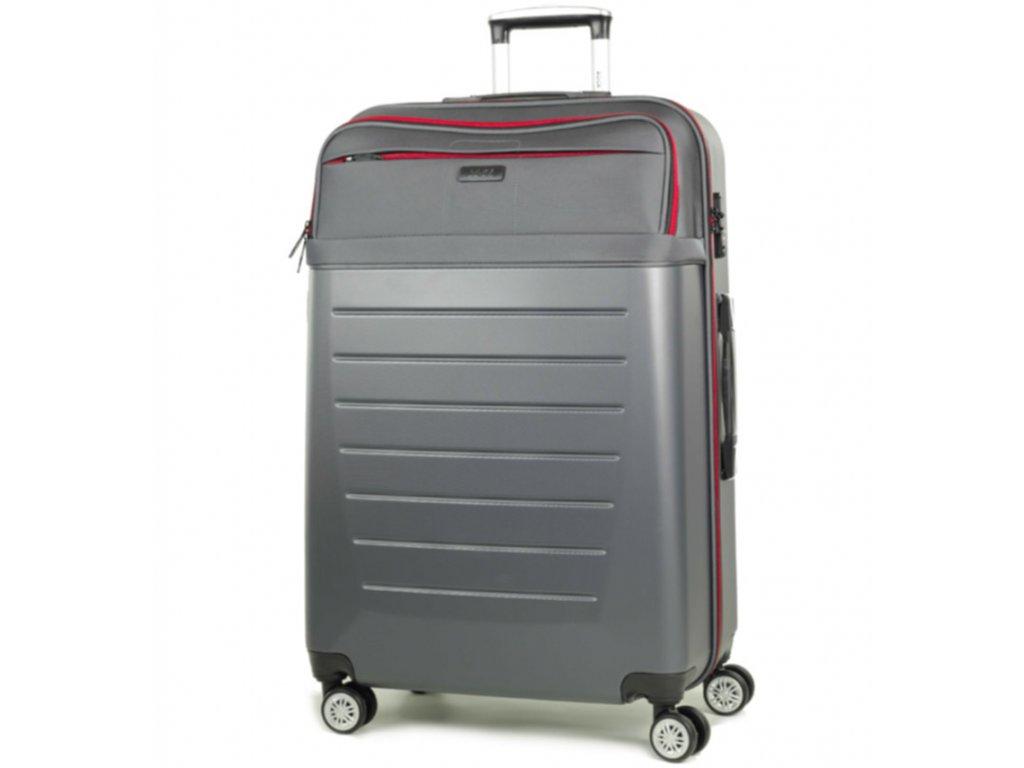cestovný kufor ROCK TR-0166/3-L ABS/PES - charcoal  + LED Čelovka 3W