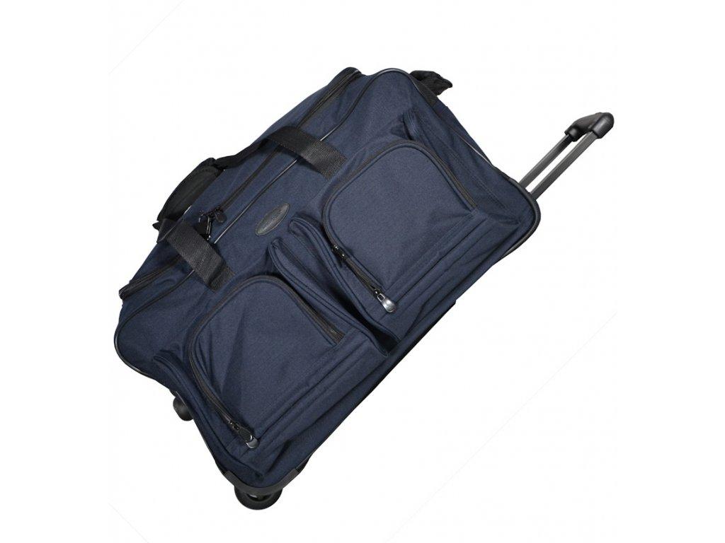 847c187ae630b Cestovná taška na kolečkách MEMBER'S TT-0005 - modrá - SvetBatohov.sk