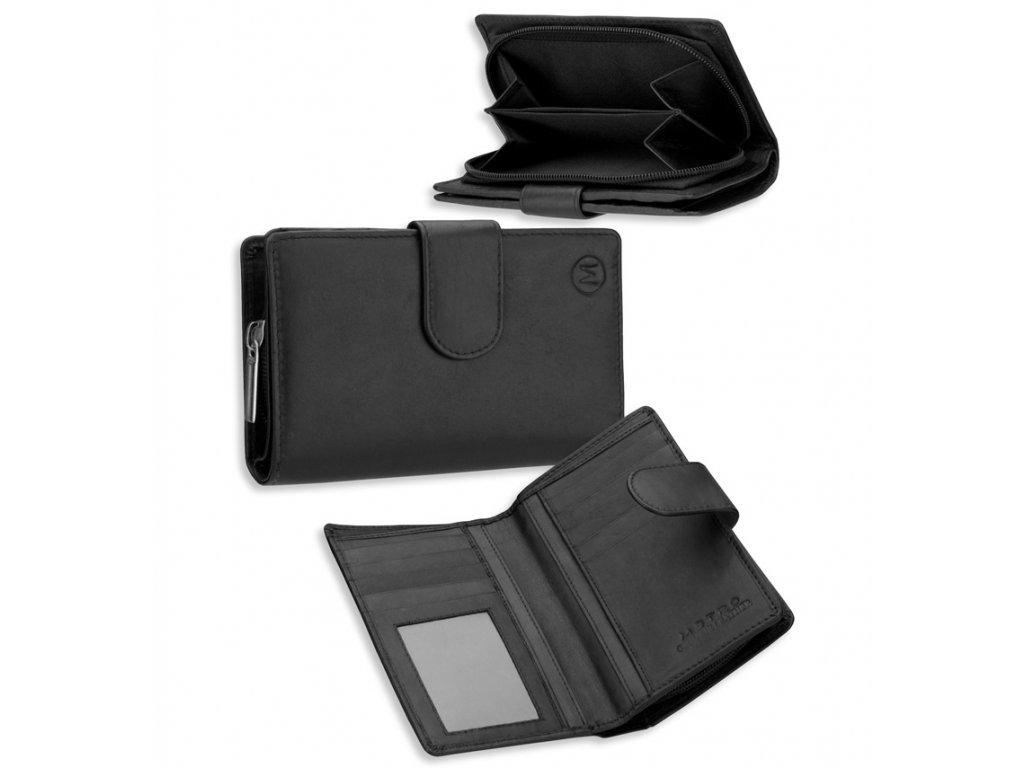 Dámská kožená peněženka METRO P08 - fialová