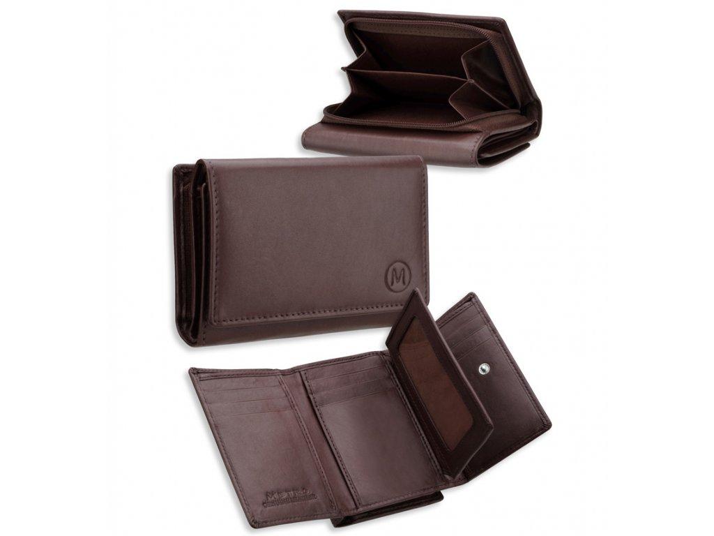 Dámská kožená peněženka METRO P09 - fialová