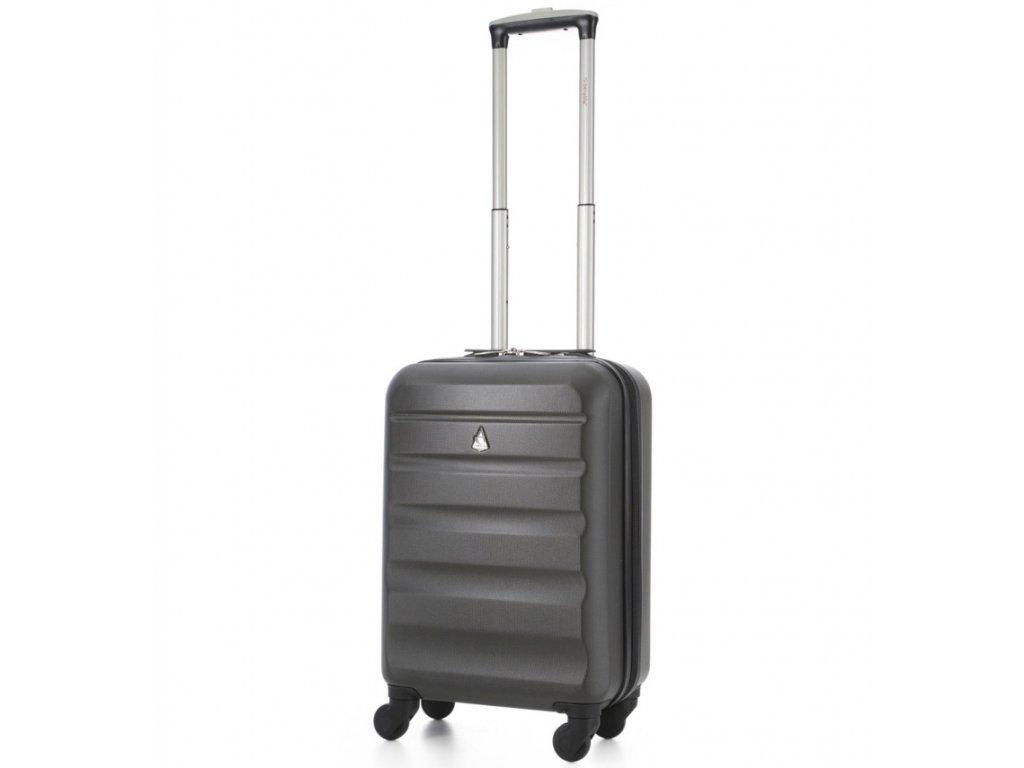 kabinová batožina AEROLITE T-322/1-S ABS - charcoal  + LED svítilna