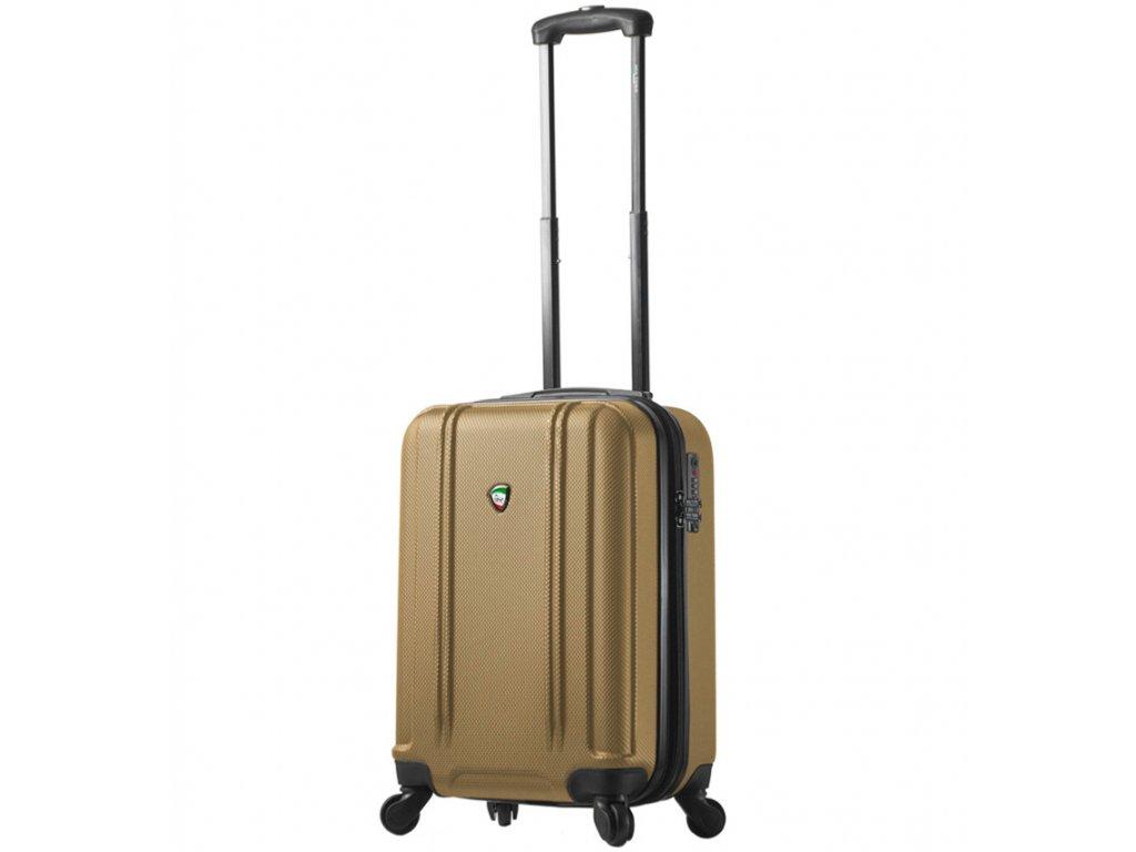 kabinová batožina MIA TORO M1210/3-S - zlatá  + LED svítilna
