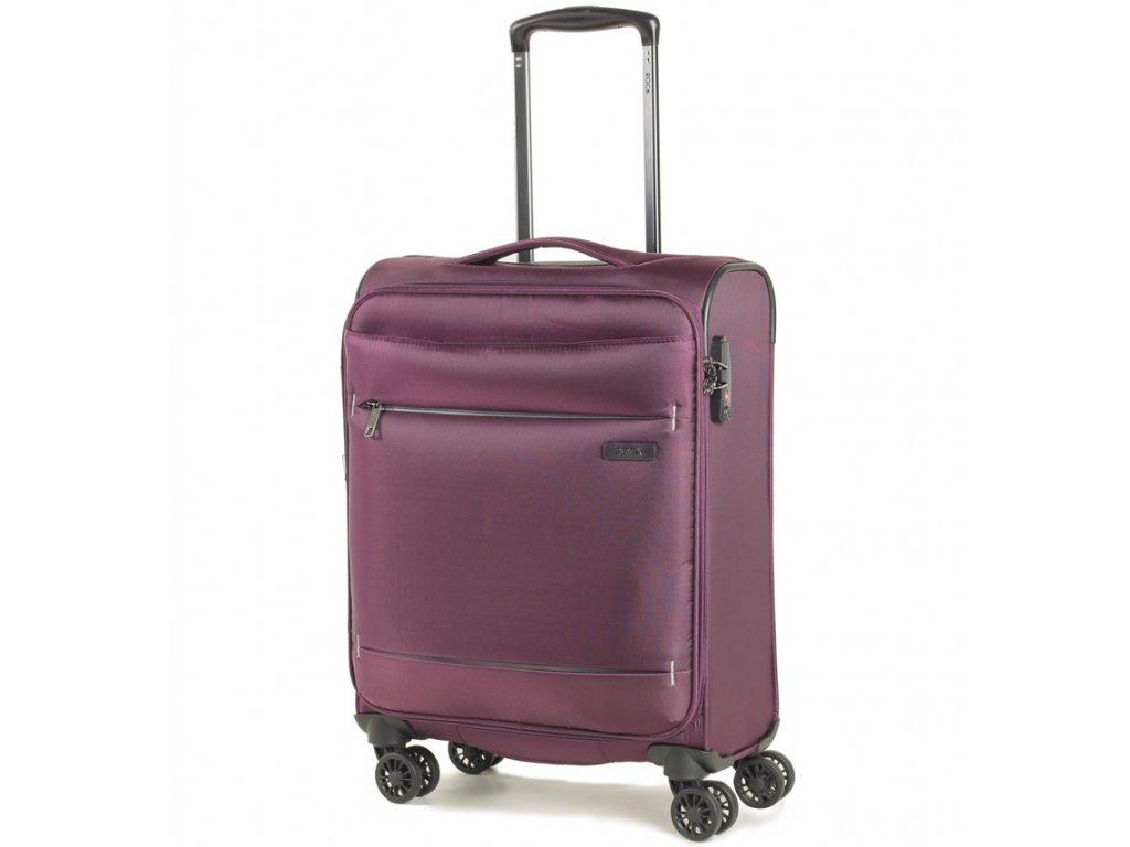 kabinová batožina ROCK TR-0161/3-S - fialová  + LED svítilna